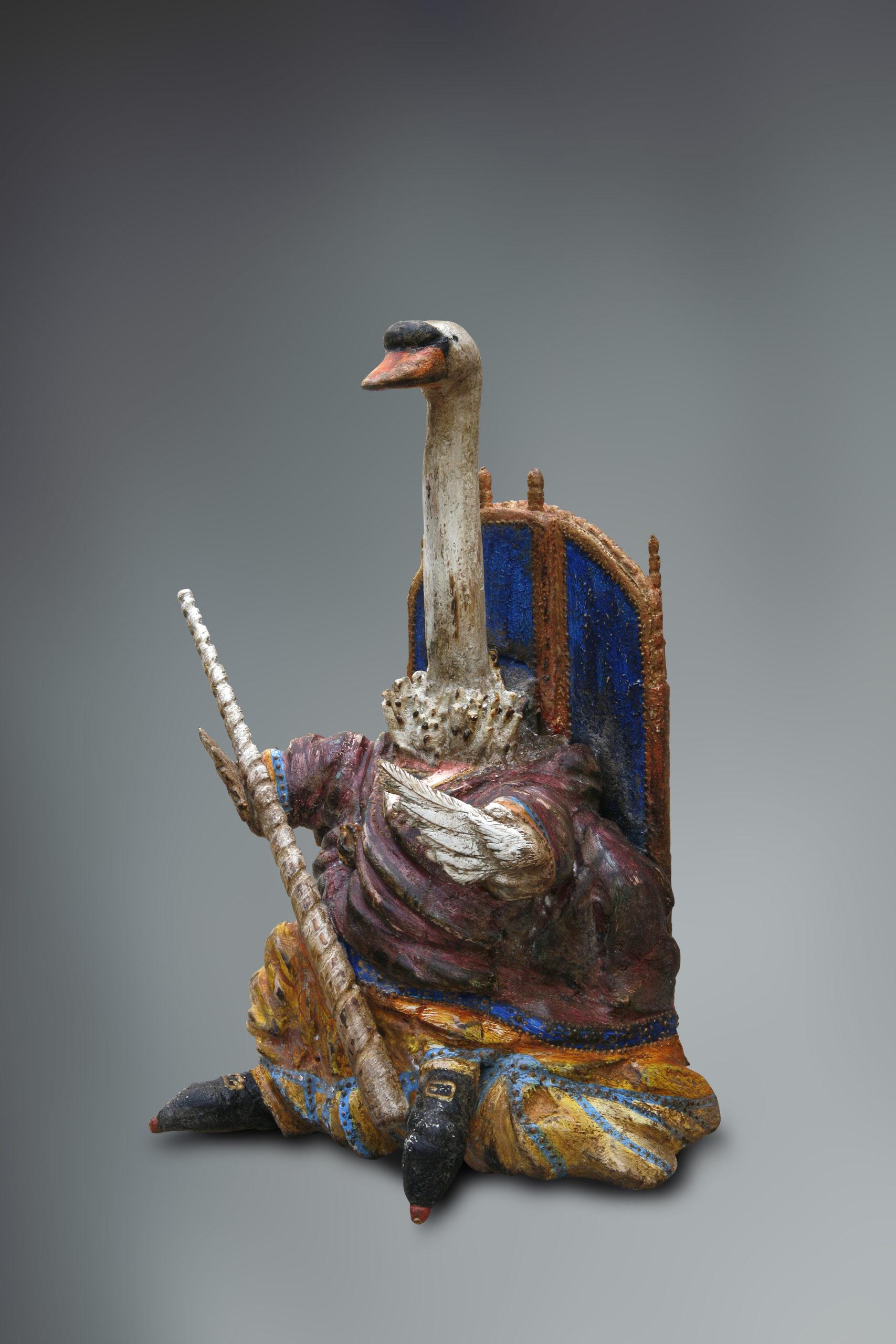 Zwaan - houten beeld - Eugene Peters